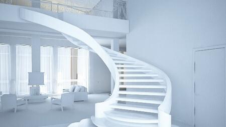 Лестница сложной формы-5