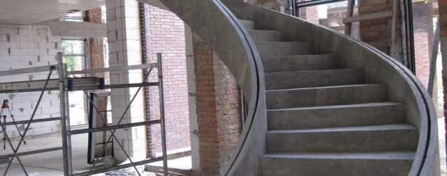 Этапы монтажа лестниц