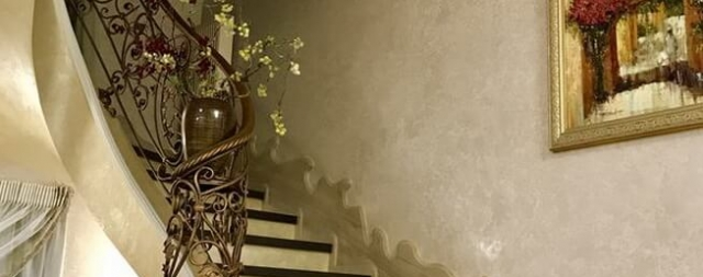 Лестница гладко подшитая бетонная green wood club-3